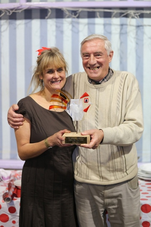 SweetieFest founder Adele Nozedar with SweetieFest Hero Award-winner John Braylow res